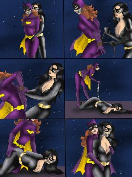 Batgirl and Catwoman Role Reversal by kdrfc6787