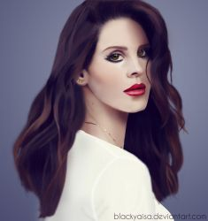 Lana Del Rey Drawing by blackyaisa