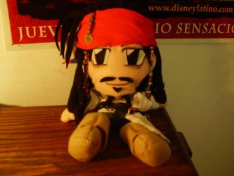 Jack Sparrow Plushie. by Anouk-Sparrow