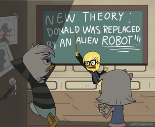 'Heard this theory?' *COMMISSION* by Cartuneslover16