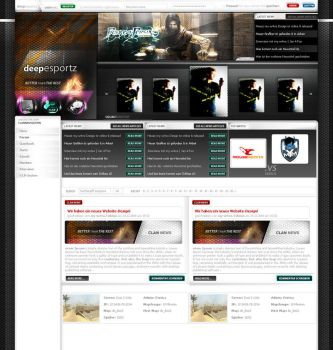 Design for Clansite of deepesportz by tobimo