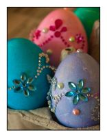Easter Eggs Adorned by Frostola