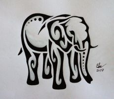 Tribal Elephant by Esmeekramer