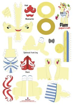 Flam Papercraft pattern by Kna