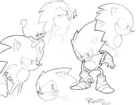Sonic poses 2 by StriCNYN3