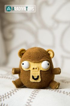 Monkey Elnino from 'AradiyaToys Design', pattern by AradiyaToys