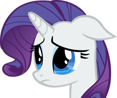 Crying Rarity Vector by hombre0