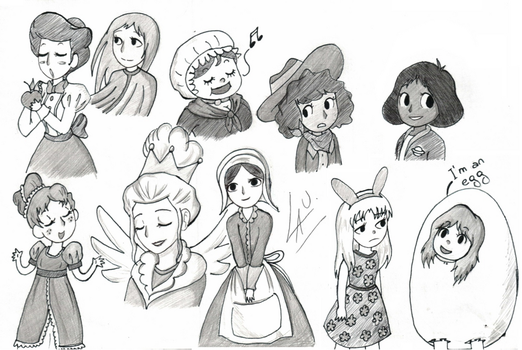 OTGW ladies sketches by kuki4982