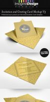 Invitation and Greeting Card Mockup V3 by idesignstudio