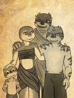 Koay Family Portrait by Myrcury-Art