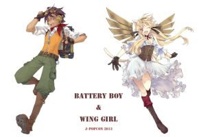 BatteryBoy and WingGirl by urita