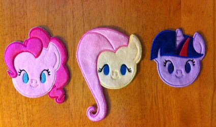 Minky Pony Patches by PlanetPlush
