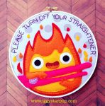 Howl's Moving Castle Calcifer Hoop by iggystarpup