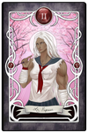 [Dangan Tarot] II - The High Priestess by luciferousLimner