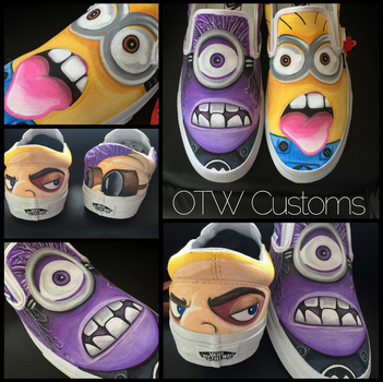 Minions Custom Vans  by VeryBadThing