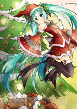 Miku Christmas by destizeph