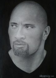 Drawing of The Rock by cdudley25