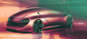 Mercedes Sketch #04 by roobi