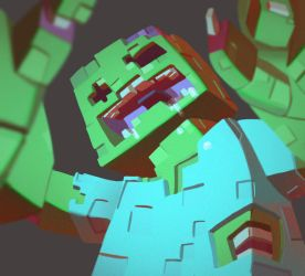 One face a day 115/365. Zombi (minecraft) by Dylean