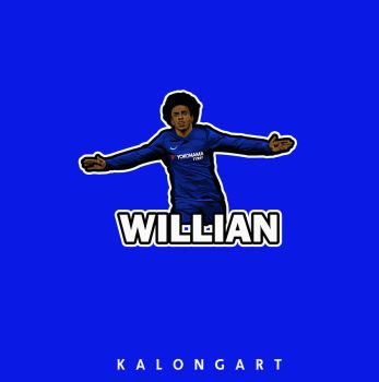 Willian Borges Flat design  by kalongart