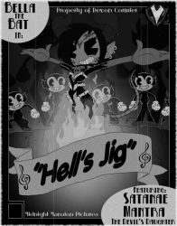 1930's - Hell's Jig Cartoon Poster by PlayboyVampire