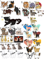 Big Batch of Adopts- Old, new, customs! -NYP by Mae-Adopts