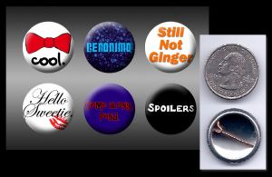 11th Doctor Who buttons by eitanya