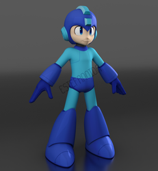 Megaman 11 model WiP#2 by Estefanoida