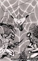 Spiderman: Clash of the Symbiotes (inked) by CZR31