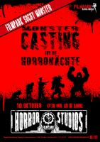 2011 Halloween Monster Casting Event Poster by VR-Robotica