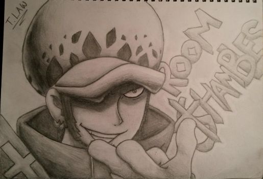 One Piece: Law Sketch by ShadowWhisper446