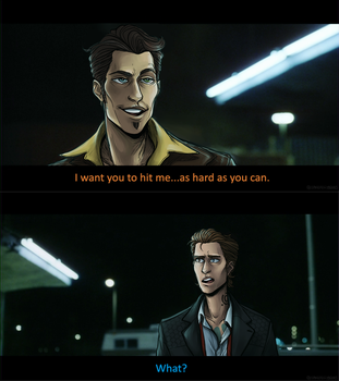 I want you to hit me... [Fight Club au] by spacejellybeans