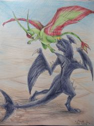 Flygon VS Garchomp by ImmaCatastrophe
