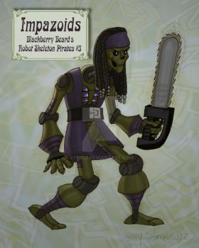 Impazoid Robot Pirate Design #3 by Stnk13