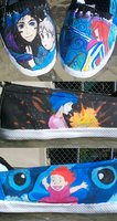 Ponyo and Howl shoes by Marchen-de-lune