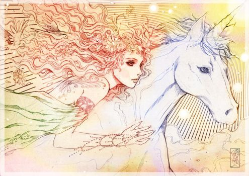Unicorn and Queen Fairy by Archie-The-RedCat