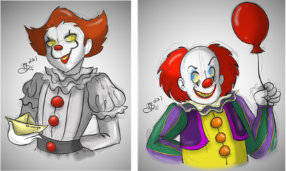 IT | The Pennywises (colored) by MynnuB