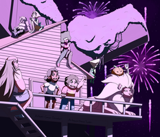 4th Of July In Beach City by Arteses-Canvas