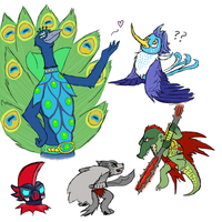Lego Chima Doodles by CreseliaMoon