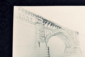 Pencil: one-point perspective practice by vt2000