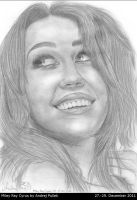 Miley Ray Cyrus drawing by AndRay-BF