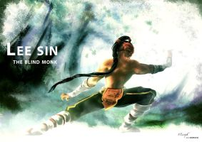 Lee Sin, the blind monk by nfouque