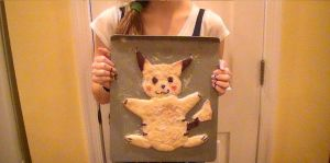 me with pikachu cookie by xMizuchanx