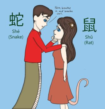 Chinese Zodiac - Snake Strider and Rat Laura 2 by TotallyDeviantLisa