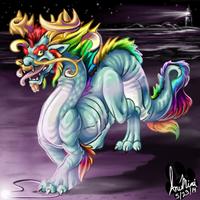 Dragon Beast of the Shore by InuMimi