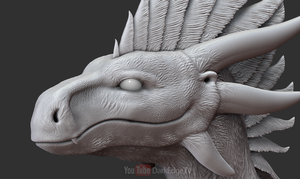 ZBrush - Wildclaw Head BASE - FlightRising by Rebecca1208