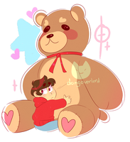 oso with a giant teddy bear?? by dongoverlord