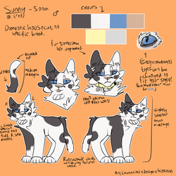 Sunny ref sheet (re-do) by hissisipi
