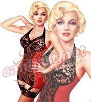Classic pin up - Marilyn by jocachi