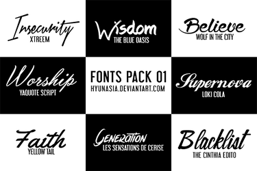 Fonts Pack 02 by hyunasia